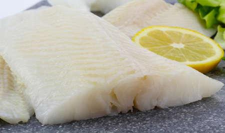 カラスガレイ、魚のフィレ 写真素材