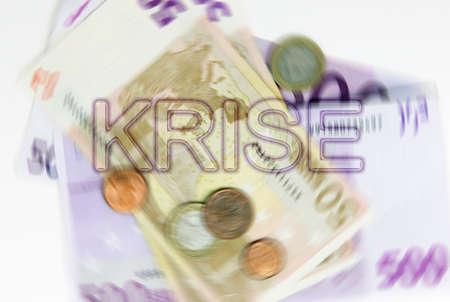 crisis economica: La crisis econ?mica Foto de archivo