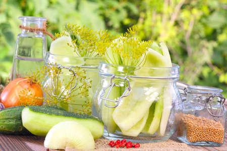 Boil down cucumber Stock Photo - 22565342