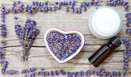 Lavendel-Produkte, Naturkosmetik Lizenzfreie Bilder