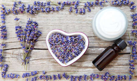 Lavender products, natural cosmetics Standard-Bild
