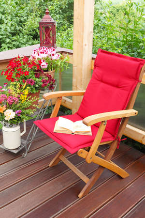 Reading corner, time out on the terrace