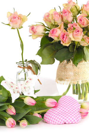 Flowers as table decoration photo