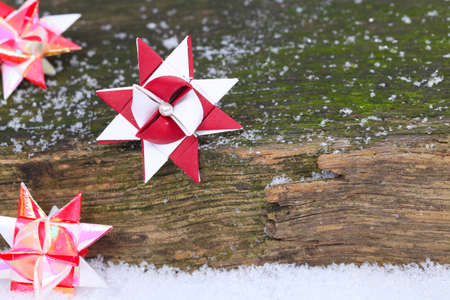 tinkered: Christmas card, Froebel star on wood
