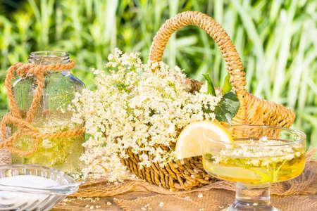 liqueur labels: Elderflower drink