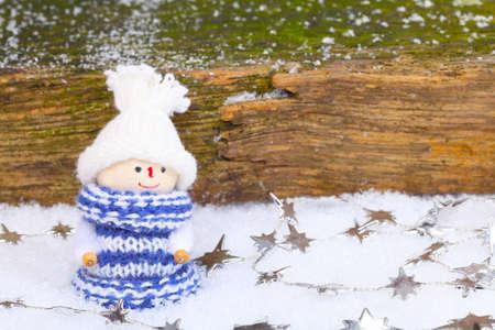 tinkered: Mujer Imp en la nieve con estrellas de la cadena