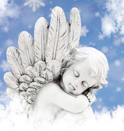 alas de angel: �ngel en el sol Foto de archivo