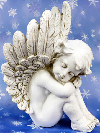 wing figure: Angels dreams before starry sky