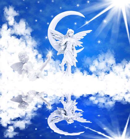 Angel reflected