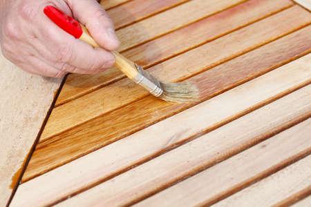 oiled: Oil Wood Furniture  Stock Photo