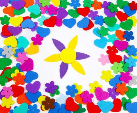 garish: Sponge rubber with flower
