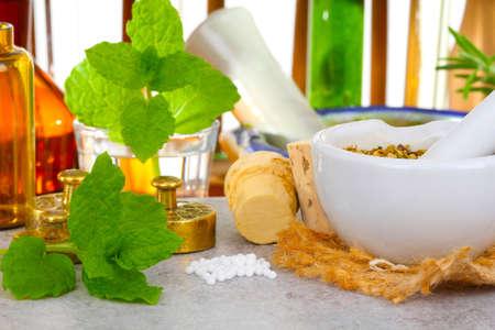 Globules produce, homeopathy  Stockfoto