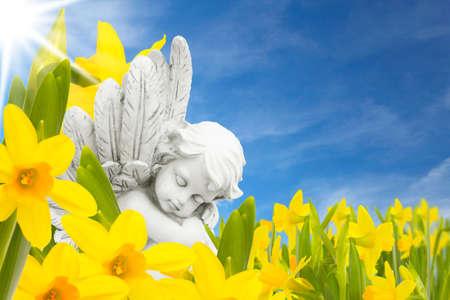 Engel im Frühling Standard-Bild - 25027175