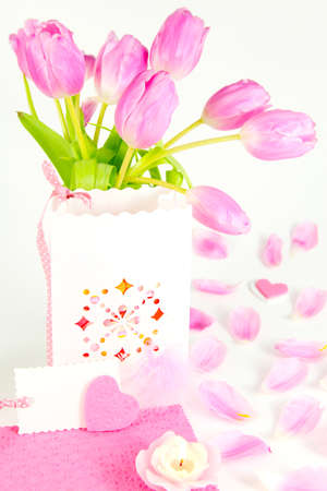 Valentine greeting, mothers day surprise  photo