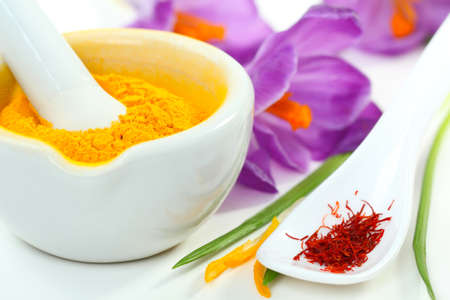 Saffron and turmeric photo