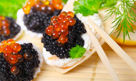 Caviar, served in shells photo