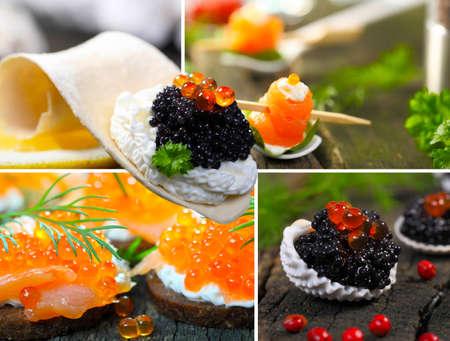 Fish buffet, caviar
