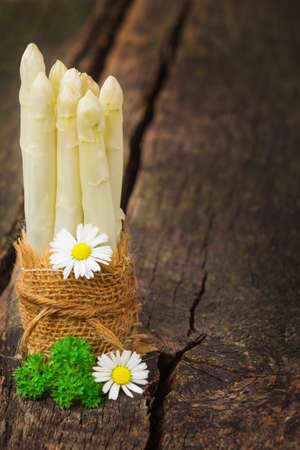 Bunch of white asparagus  Imagens