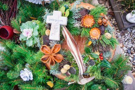 all souls' day: Grave Decoration