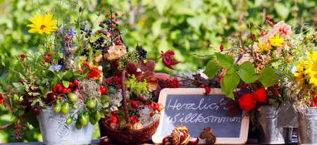 flowerpower: Welcome Stock Photo