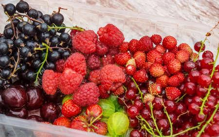 regionally: Garden fruits of the season  Stock Photo