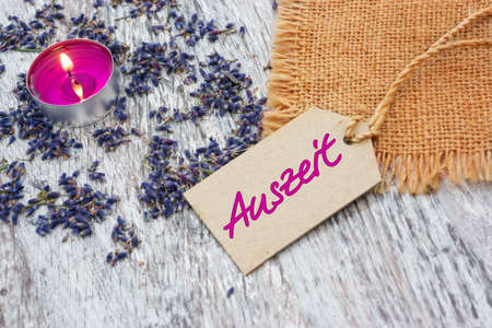 Time out, wellness - with lavender  photo