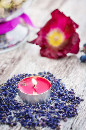 Scented candle, lavender  photo