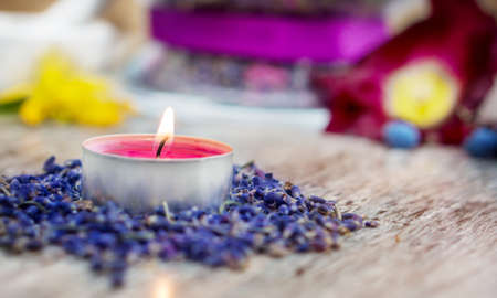 Aromatherapy with lavender  photo