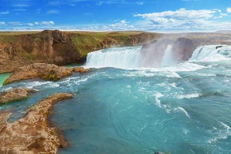 gods: Godafoss, gods waterfall, waterfall Stock Photo
