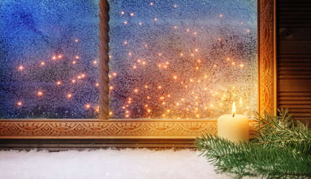 1. Advent, Window decorations
