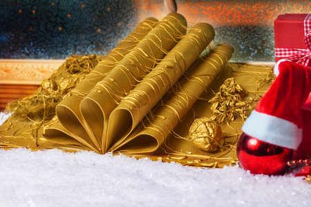 tinkered: Libro de Navidad, regalo, sombrero de Navidad