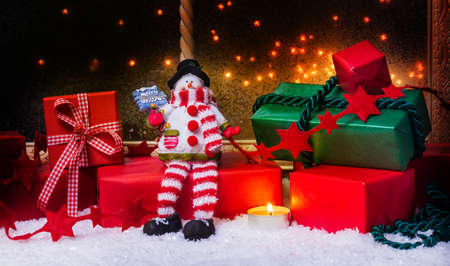 windowpanes: Christmas gifts, Christmas Decoration