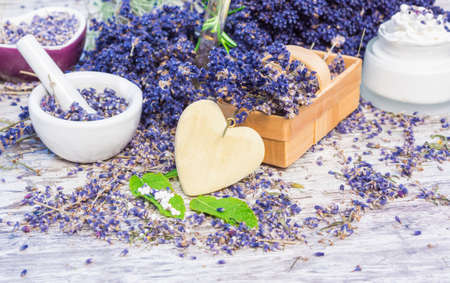 ointment: Lavender, mint, globules, ointment Stock Photo