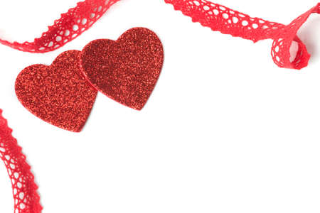 Hearts, ribbon, Valentine photo