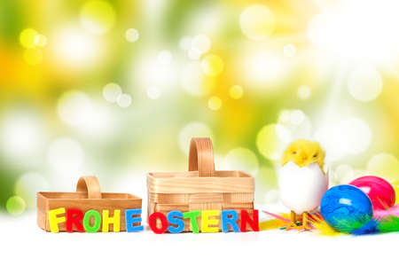 easter background: Easter background with bokeh Stock Photo