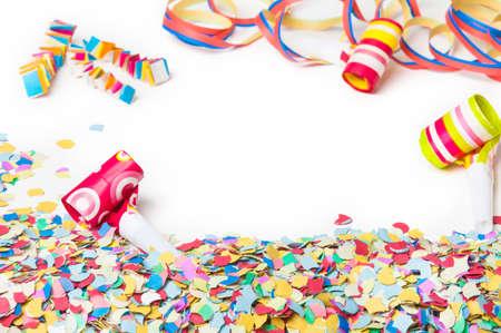 trompeta: Carnaval, confeti, partido, fondo
