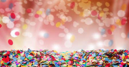 carnaval: Confeti, fondo, carnaval, bokeh Foto de archivo