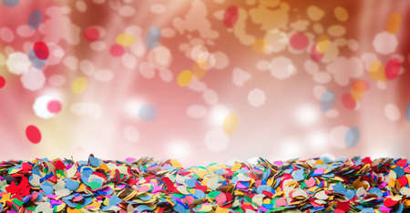 Confetti, background, carnival, bokeh Stock Photo
