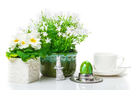 Easter decoration with primroses photo