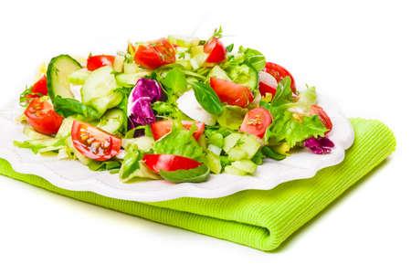 salad plate: Piatto di insalata Archivio Fotografico