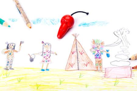 kids drawing: Carnival, kids drawing