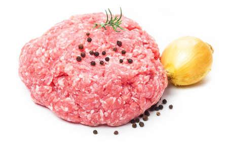 豚ひき肉、みじん切りにした肉 写真素材