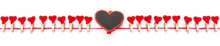 parentheses: Hearts, parentheses Stock Photo