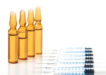 ampoules: Vaccination, disposable syringes, ampoules