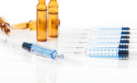 Disposable syringes, vaccination, injection needles Imagens
