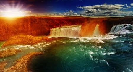 gods: Godafoss, gods waterfall