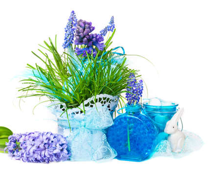 Easter decoration with hyacinths photo