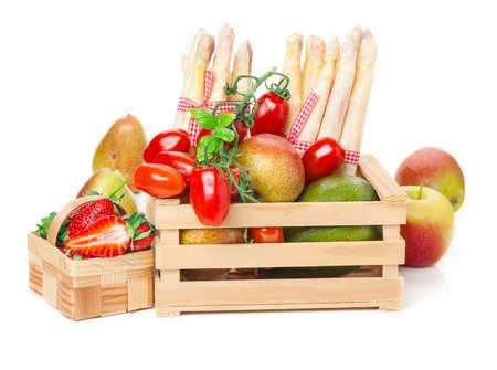 fruit and vegetable: Fruit basket vegetable crate