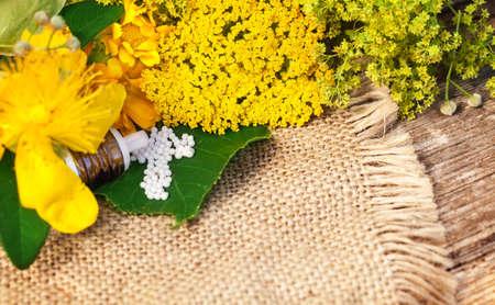naturopathy: Homeopathy, globules and medicinal herbs