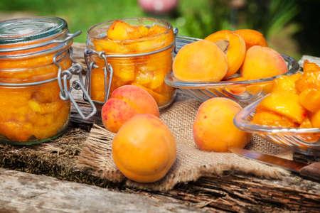 boil: Boil apricot Stock Photo